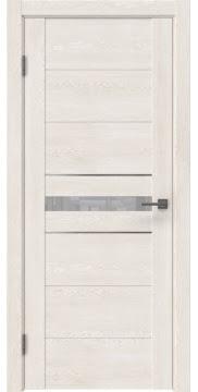 Межкомнатная дверь GM003 (экошпон «белый дуб» / лакобель белый)