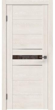 Межкомнатная дверь GM003 (экошпон «белый дуб» / лакобель коричневый) — 0422