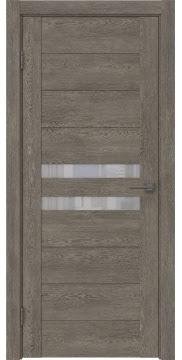 Межкомнатная дверь GM004 (экошпон «серый дуб» / лакобель белый) — 0441