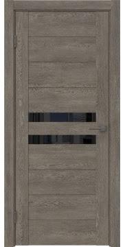 Межкомнатная дверь GM004 (экошпон «серый дуб» / лакобель черный) — 0444