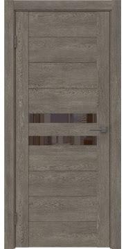Межкомнатная дверь GM004 (экошпон «серый дуб» / лакобель коричневый) — 0442