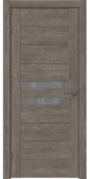 Межкомнатная дверь GM004 (экошпон «серый дуб» / лакобель серый) — 0443