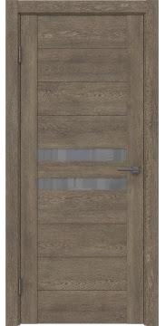 Межкомнатная дверь GM004 (экошпон «дуб антик» / лакобель серый) — 0435