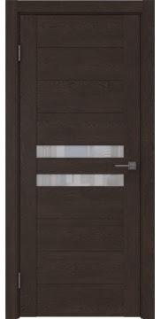 Межкомнатная дверь GM004 (экошпон «дуб шоколад» / лакобель белый) — 0445