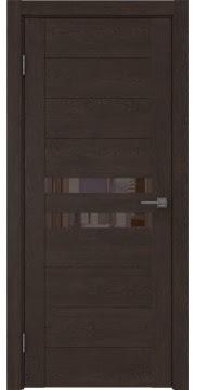 Межкомнатная дверь GM004 (экошпон «дуб шоколад» / лакобель коричневый) — 0446