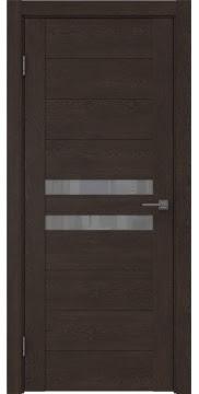 Межкомнатная дверь, GM004 (экошпон дуб шоколад, лакобель серый)
