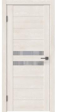 Межкомнатная дверь GM004 (экошпон «белый дуб» / лакобель белый) — 0437