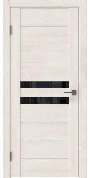 Межкомнатная дверь GM004 (экошпон «белый дуб» / лакобель черный) — 0440