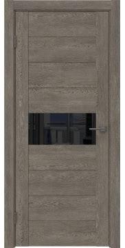 Межкомнатная дверь GM005 (экошпон «серый дуб» / лакобель черный) — 0468