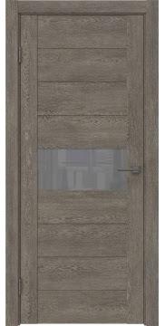 Межкомнатная дверь, GM005 (экошпон серый дуб, лакобель серый)