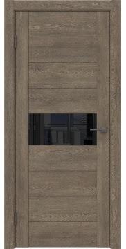 Межкомнатная дверь GM005 (экошпон «дуб антик» / лакобель черный) — 0460