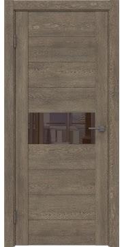 Межкомнатная дверь GM005 (экошпон «дуб антик» / лакобель коричневый) — 0458