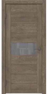 Межкомнатная дверь, GM005 (экошпон дуб антик, лакобель серый)