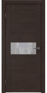 Межкомнатная дверь, GM005 (экошпон дуб шоколад, лакобель белый)