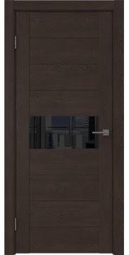 Межкомнатная дверь GM005 (экошпон «дуб шоколад» / лакобель черный) — 0472