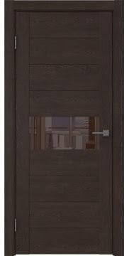 Межкомнатная дверь GM005 (экошпон «дуб шоколад» / лакобель коричневый) — 0470