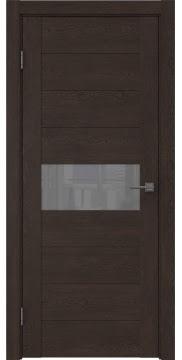 Межкомнатная дверь GM005 (экошпон «дуб шоколад» / лакобель серый) — 0471