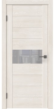 Межкомнатная дверь GM005 (экошпон «белый дуб» / лакобель белый)