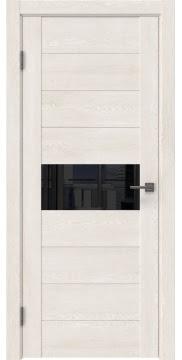 Межкомнатная дверь GM005 (экошпон «белый дуб» / лакобель черный) — 0464