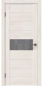 Межкомнатная дверь, GM005 (экошпон белый дуб, лакобель серый)