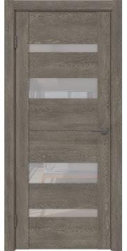 Межкомнатная дверь GM006 (экошпон «серый дуб» / лакобель белый) — 0498