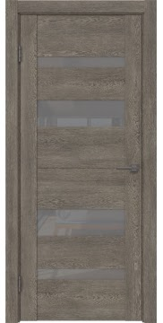 Межкомнатная дверь GM006 (экошпон «серый дуб» / лакобель серый) — 0500