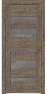Межкомнатная дверь GM006 (экошпон «дуб антик» / лакобель серый) — 0492
