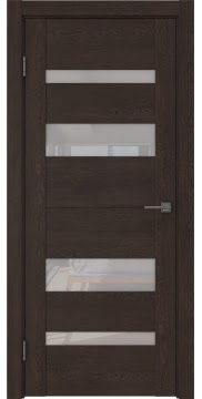 Межкомнатная дверь GM006 (экошпон «дуб шоколад» / лакобель белый) — 0502