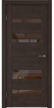 Межкомнатная дверь GM006 (экошпон «дуб шоколад» / лакобель коричневый) — 0503