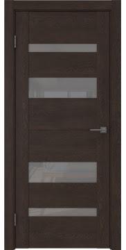 Межкомнатная дверь, GM006 (экошпон дуб шоколад, лакобель серый)
