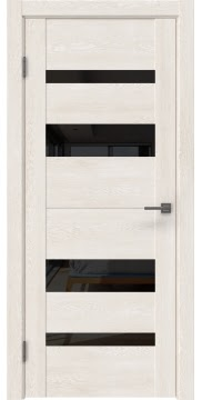 Межкомнатная дверь GM006 (экошпон «белый дуб» / лакобель черный) — 0497