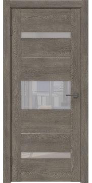 Межкомнатная дверь GM007 (экошпон «серый дуб» / лакобель белый) — 0526