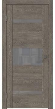 Межкомнатная дверь, GM007 (экошпон серый дуб, лакобель серый)