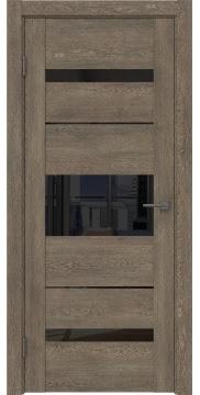 Межкомнатная дверь GM007 (экошпон «дуб антик» / лакобель черный) — 0521