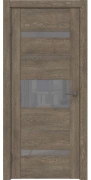 Межкомнатная дверь, GM007 (экошпон дуб антик, лакобель серый)