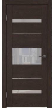 Межкомнатная дверь GM007 (экошпон «дуб шоколад» / лакобель белый) — 0530