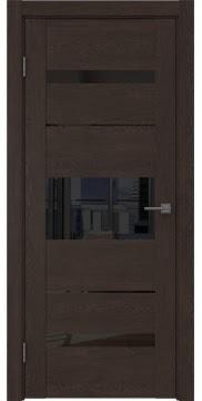Межкомнатная дверь GM007 (экошпон «дуб шоколад» / лакобель черный) — 0533