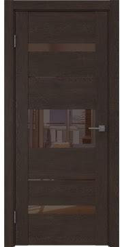 Межкомнатная дверь GM007 (экошпон «дуб шоколад» / лакобель коричневый) — 0531