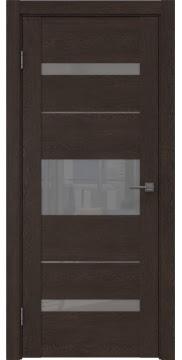 Межкомнатная дверь GM007 (экошпон «дуб шоколад» / лакобель серый) — 0532