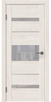 Межкомнатная дверь GM007 (экошпон «белый дуб» / лакобель белый) — 0522