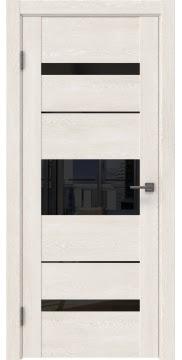 Межкомнатная дверь GM007 (экошпон «белый дуб» / лакобель черный) — 0525