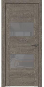Межкомнатная дверь GM008 (экошпон «серый дуб» / лакобель серый) — 0594