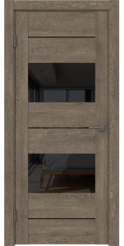 Межкомнатная дверь GM008 (экошпон «дуб антик» / лакобель черный) — 0587