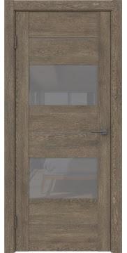 Межкомнатная дверь GM008 (экошпон «дуб антик» / лакобель серый) — 0586