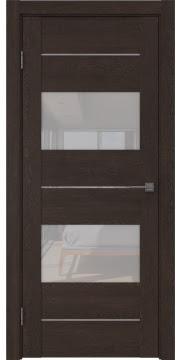 Межкомнатная дверь GM008 (экошпон «дуб шоколад» / лакобель белый) — 0596