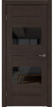 Межкомнатная дверь GM008 (экошпон «дуб шоколад» / лакобель черный) — 0599