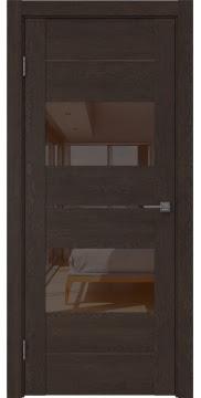 Межкомнатная дверь GM008 (экошпон «дуб шоколад» / лакобель коричневый) — 0597