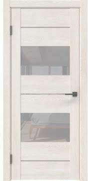 Межкомнатная дверь GM008 (экошпон «белый дуб» / лакобель белый)