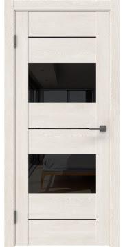 Межкомнатная дверь GM008 (экошпон «белый дуб» / лакобель черный) — 0591