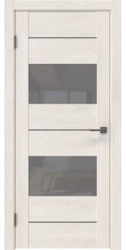 Межкомнатная дверь GM008 (экошпон «белый дуб» / лакобель серый) — 0590